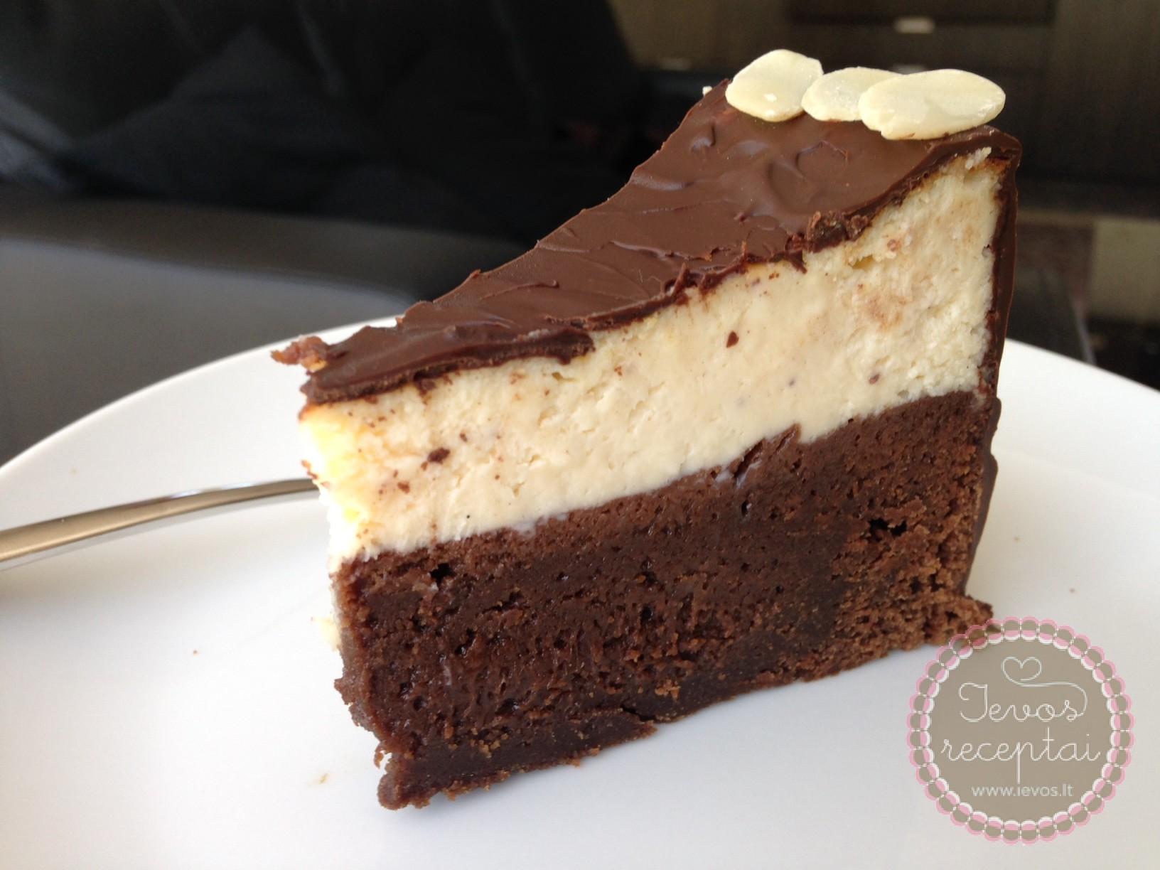 Sūrio ir braunio tortas